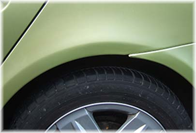 car with fixed scrape