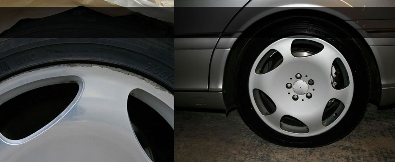 Damage to car before and after repair