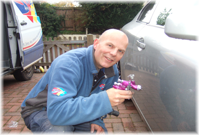 Smart ABC Cambs Car body work and paint repair technician Steve Walker for Huntingdon, Cambridge, Peterborough, Cambridgeshire